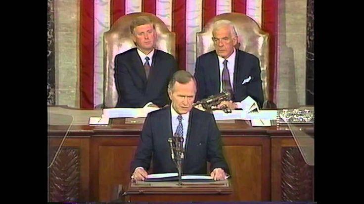 1990 President George H.W. Bush Speech to Congress on Desert Shield  ************  02/16/2018 @ Denver House -BL