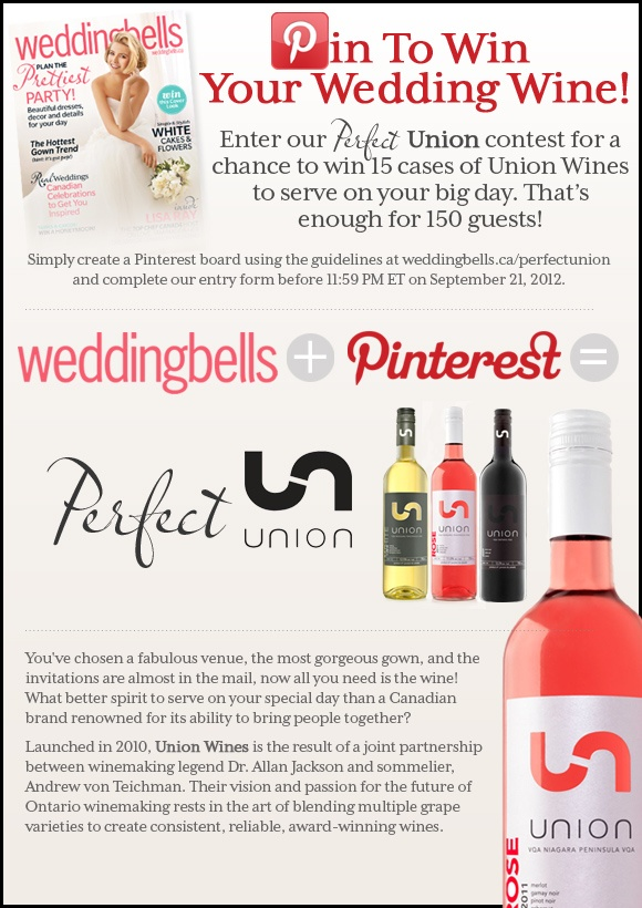 Pin to Win your Wedding wine!