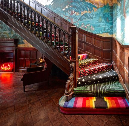 Colorful, playful staircase