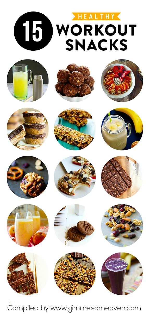 15 Healthy Workout Snacks -- delicious recipes that will give you extra energy before or after a workout!   gimmesomeoven.com