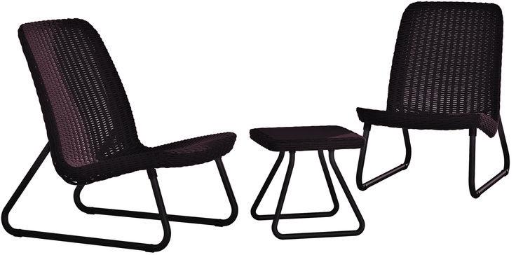 Метки: Плетеные кресла для дачи, Садовые кресла из ротанга.              Материал: Пластик.              Бренд: Keter.              Стили: Скандинавский и минимализм.              Цвета: Темно-коричневый.