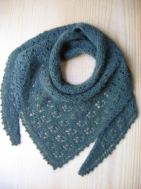 Ravelry: Meadow Lace Scarf pattern by Evelyn A. Clark