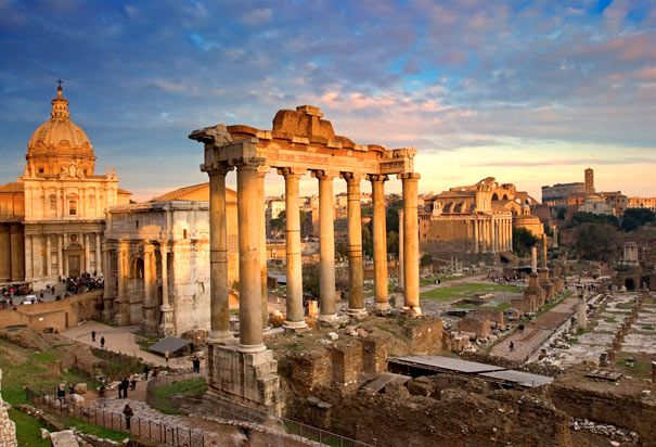 Roman Forum: The center of the Ancient city of Rome, the Forum was used for public meetings, religious spectacles, legal courts, commerce and more. (Photo Credit: Pietro Canali/Grand Tour/Corbis)