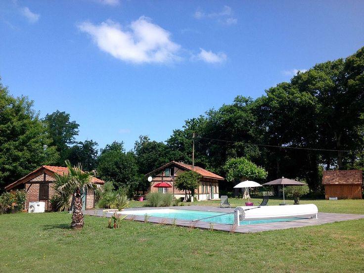 Abritel Location Saint-Julien-en-Born Maison landaise avec piscine  location maison Landes Côte d'Argent