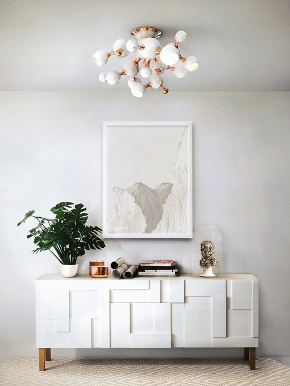 Modern Art Deco interior with a touch of shabby style