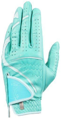LPGA LUX Series Mint Golf Glove by LPGA Golf Glove. $12.62. Offered in Womens left and right handed in 5 colors in 5 sizes.(S-M-ML-L-XL) High-Tech material technology for exceptional fit and feel.. Remains soft and tacky when wet. Price point cannot be beat(compare to other stay soft gloves) Offers a powerful grip, exceptional moisture resistance and the finest feel. This is a perma-soft leather(sheepskin leather) glove.It is not just another leather glove! This is top line l...