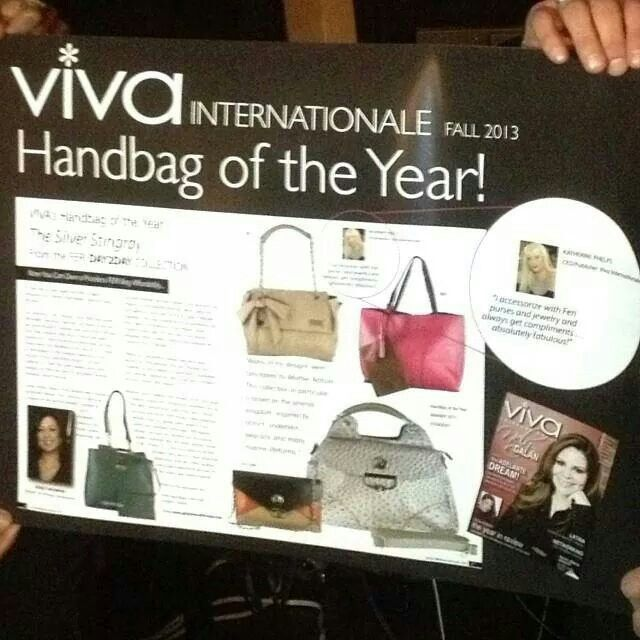 Recognized as the 2013 Viva Internationale - Handbag of the Year