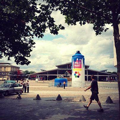 Vous êtes fans de street art et vous n'étiez pas à la Villette ? Découvrez le #MEGA spray couleur de #Samsung