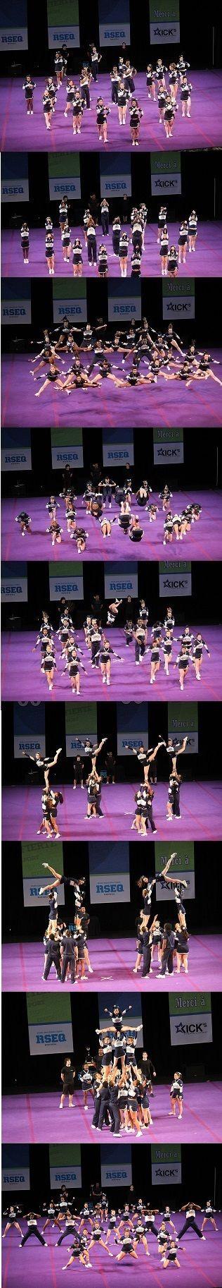 #cheerleading #fiertéuqam #stunt #gymnastique #jump #UQAM Provinciaux 2013. #team #cheer www.facebook.com/cheerleadingUQAM @UQAM | Université du Québec à Montréal