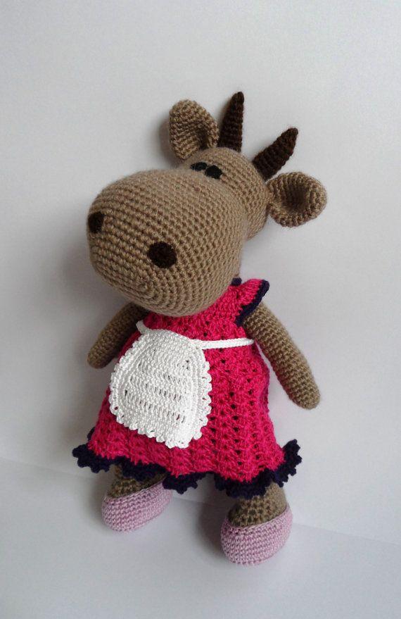 Crochet Toy Pattern Crochet Cow Pattern by jelenateperik on Etsy