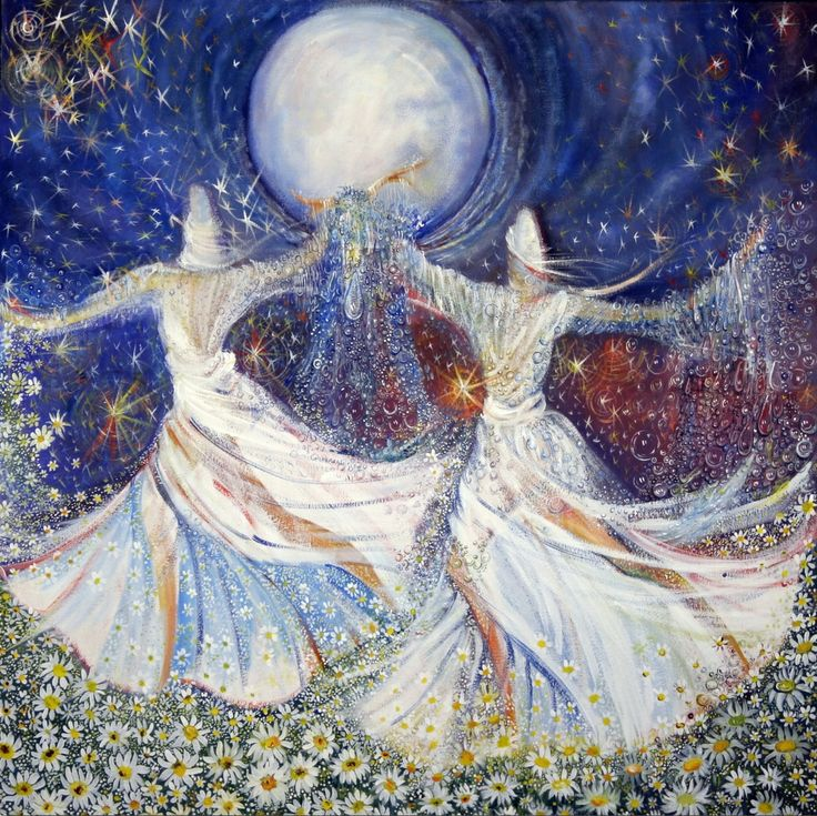 The moon has become a dancer at this festival of love. This dance of light, This sacred blessing, This divine love, beckons us to a world beyond only lovers can see with their eyes of fiery passion. ~Rumi