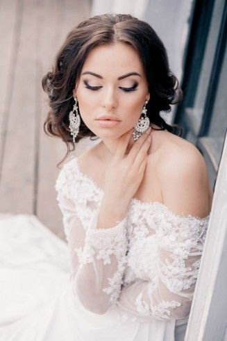 Eye Accentuating, Lovely Wedding Makeup