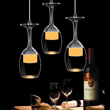 Wineglass Chandelier Dining Room Pendant Lamp