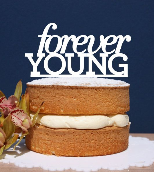 Forever Young Engagement Cake Topper cake topper by CommunicakeIt, $35.00