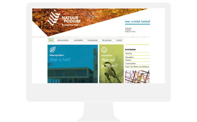 natuurpodium website design by daily milk