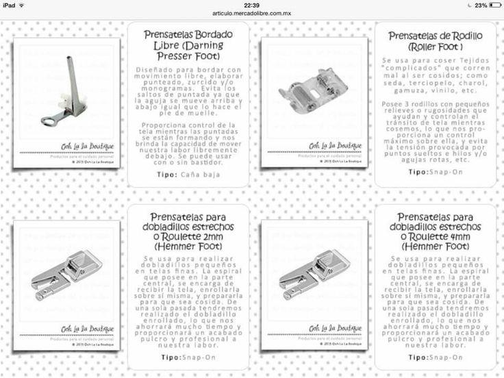 Pies para maquina de coser