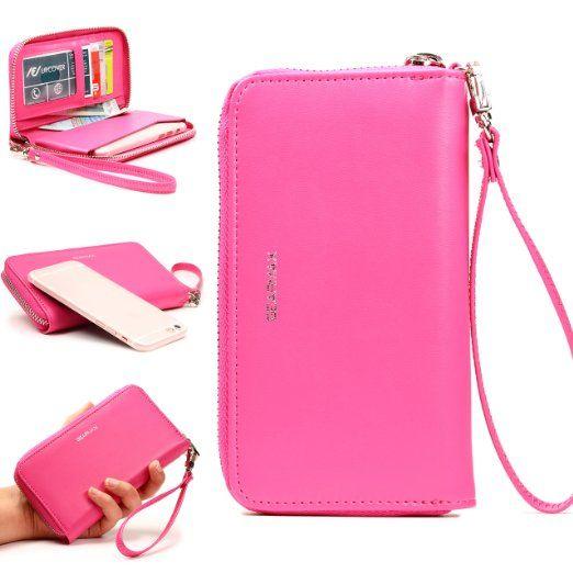 [WoW] Original Urcover® GEARMAX Universal Etui mit Geldbeutel Funktion und GRATIS iPhone 6 Schutzhülle [deutscher Fachhandel] Pink: Amazon.de: Elektronik 18,90€