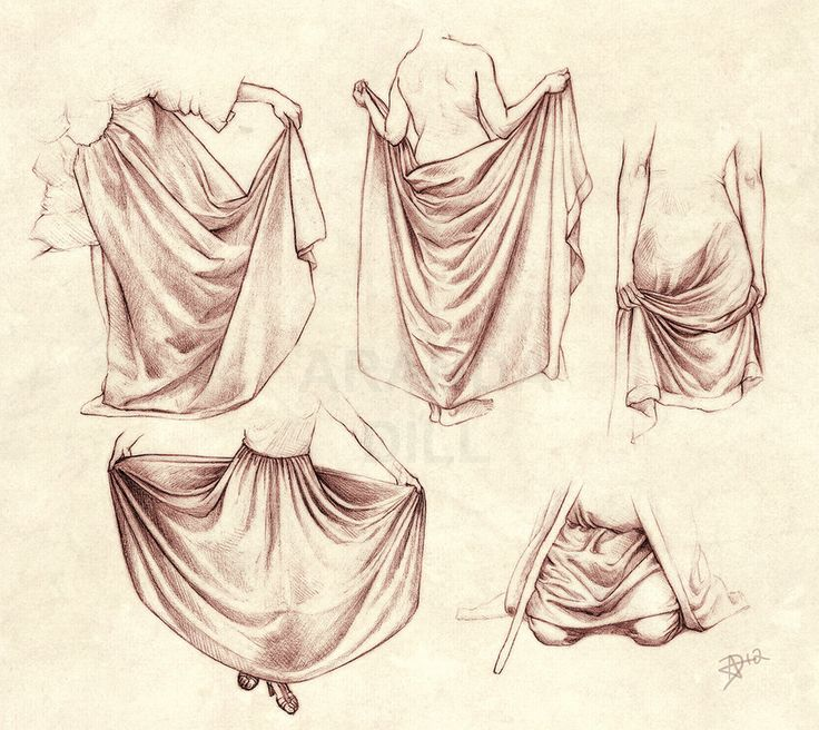 Draping folds (Diaper folds) study.