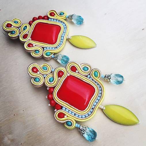 Colorful soutache earrings