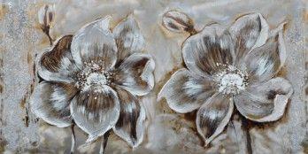 schilderij bloemen 70x140   Schilderijenshop