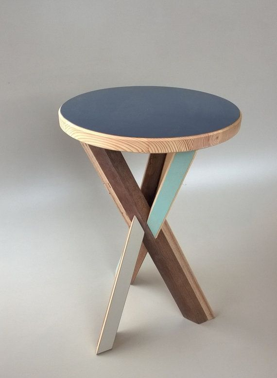 Buttressed joint Stool by ReviiveCIC on Etsy