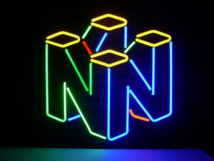 New Nintendo 64 Real Glass Neon Light Sign Home Beer Bar Pub Game Room Sign L142
