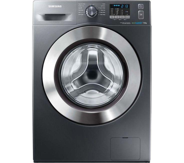 £379 SAMSUNG ecobubble WF70F5E2W4X Washing Machine - Graphite