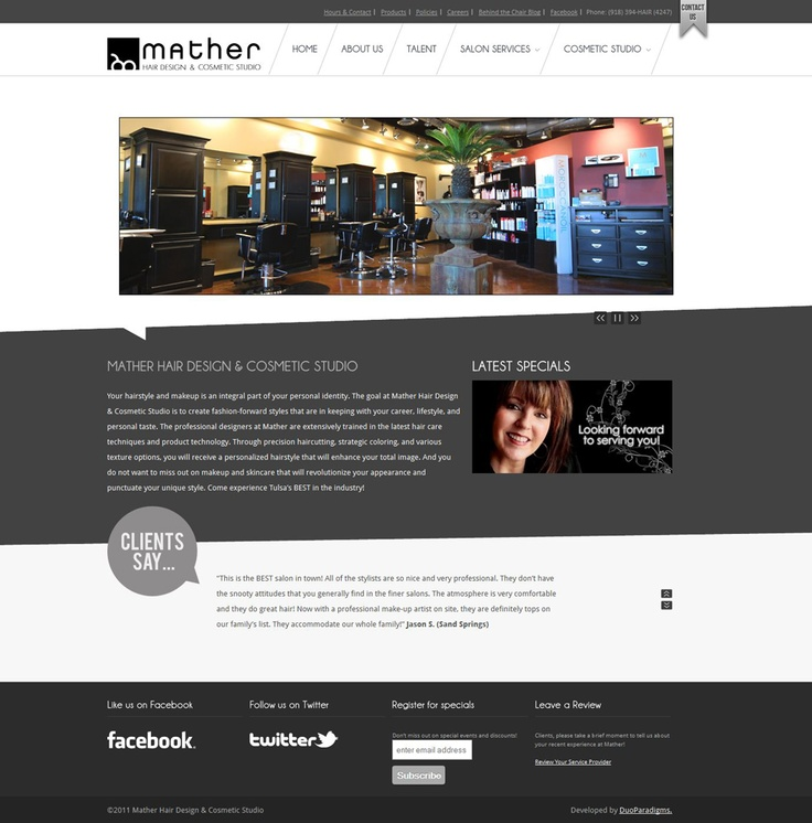Mather Salon Website | http://mathersalon.com