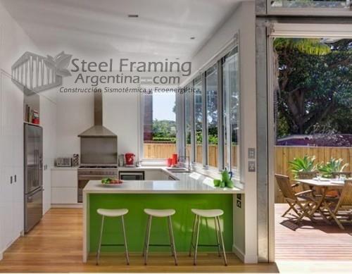 Casa realizada en Steel Framing