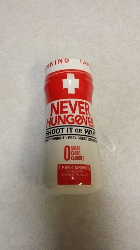 Prevent hangovers with Never Hungover