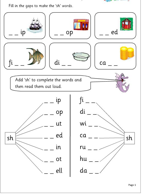 English worksheets for grade 1