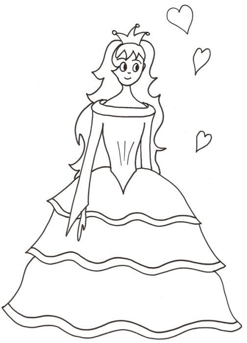Coloriage Princesse Coeur