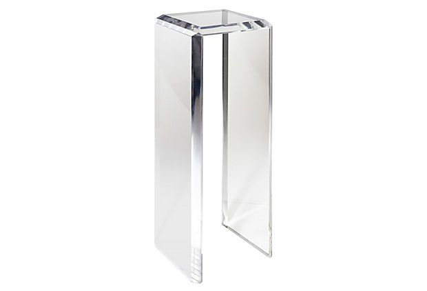 Sadie Pedestal, Clear  on OneKingsLane.com, by Plexi-Craft, $1499.  Would be perfect for a Frederick Hart statue!