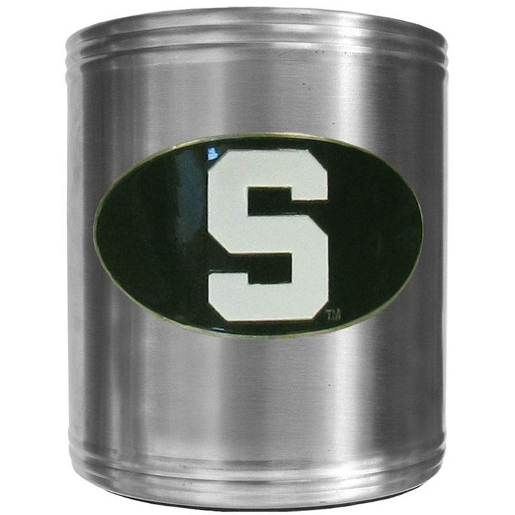 """Checkout our #LicensedGear products FREE SHIPPING + 10% OFF Coupon Code """"Official"""" Michigan St. Spartans Steel Can Cooler - Officially licensed College product Stainless steel cooler Insulated to keep drinks cool Perfect for game day or any day Makes a great gift for any Michigan St. Spartans fan - Price: $22.00. Buy now at https://officiallylicensedgear.com/michigan-st-spartans-steel-can-cooler-ccs41"""