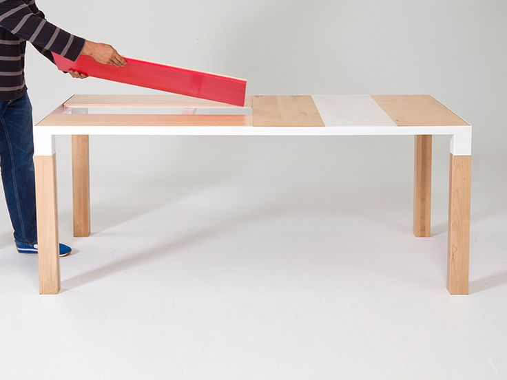 Leif Dining Table   It Has A Customizable Top Allowing Different Panels (in  Different Configurations) To Be Placed Willy Nilly Style.