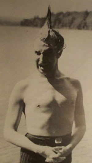 Oh, look. It's Vincent Price shirtless with a mohawk. How about that!