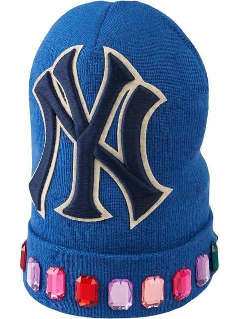4a2507b5 Gucci Wool Hat With NY Yankees™ Patch in 2019 | HATS & SCARVES ...