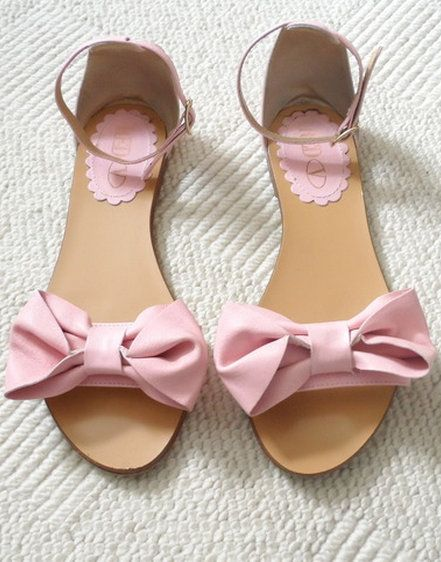 RED Valentino Pink Bow Sandals
