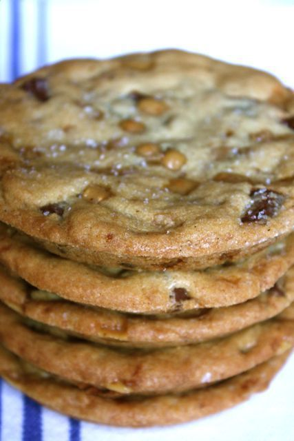 Salted Toffee Chocolate Chunk Cookies