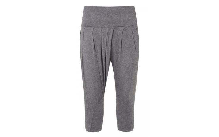 Salutation Capri Grey Melange/Dusk Blue | Manuka Life | Lounge Wear Pants | Grey Yoga Trousers | Womens Grey Lounge Wear Pant Sale