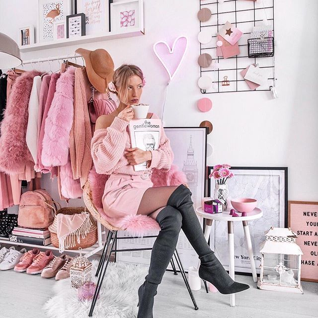 Pin By Tardn On Pink In 2020 Cute Diy Room Decor Pink Wardrobe
