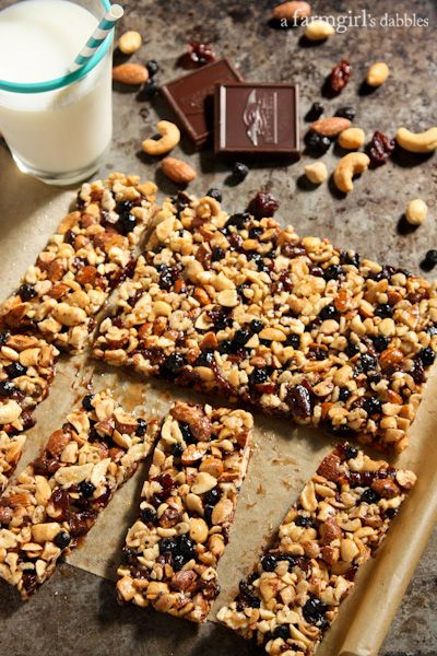 Nuts and Fruits Energy Bars {homemade KIND Bars} - afarmgirlsdabbles.com #energybars #kindbars #nuts #driedfruit @farmgirlsdabble