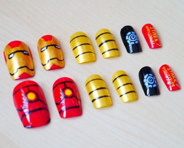 Fabulous Iron Man Inspired Nails #ironman3event