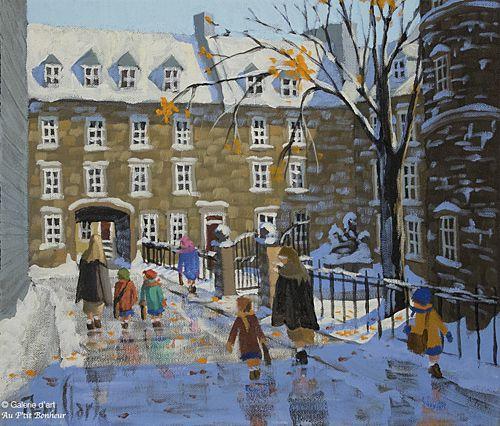 Rémi Clark, 'Les petits bas blancs', 12'' x 14'' | Galerie d'art - Au P'tit Bonheur - Art Gallery