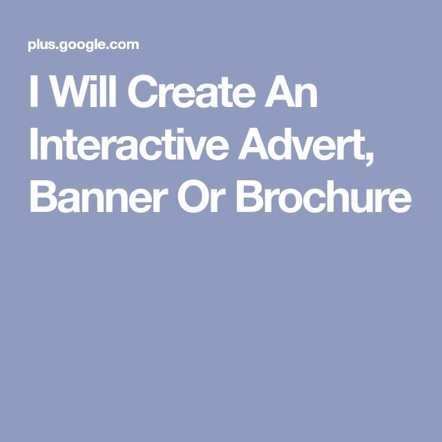 I Will Create An Interactive Advert, Banner Or Brochure