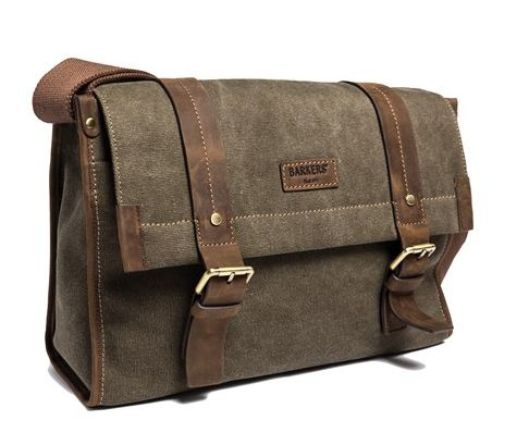 The Waxed Canvas Satchel is the kind of bag every guy needs - hardwearing and still stylish. Great for carrying essentials to the beach or sports game - $249.99 from Barkers