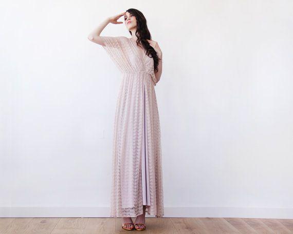 Blush pink maxi straps dress Maxi blush lining by BLUSHFASHION