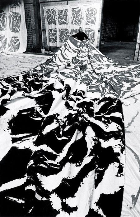 Simon Hantaï in his studio, Maisons-Alfort, Paris, 1980