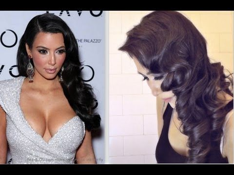 ★KIM KARDASHIAN HAIR TUTORIAL:  CURLY VINTAGE HAIRSTYLES |HOW TO CURL YOUR HAI…
