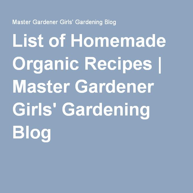 List of Homemade Organic Recipes - List of Homemade Organic Recipes Homemade Horticultural Oil spray recipe 1 tablespoon vegetable cooking oil and 1 teaspoon of NON-DEGREASING liquid dishwashing detergent per gallon of water Potassium bicarbonate Fungicide Mix 4 teaspoons (about 1 rounded tablespoon) of potassium bicarbonate into one gallon of water. Spray lightly on foliage of plants afflicted with black spot, powdery mildew, brown patch and other fungal diseases. Potassium bicarbonate is a
